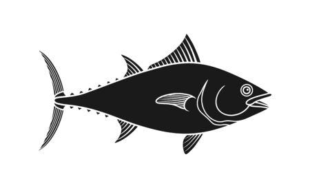 Tuna . Isolated tuna on white background Vecteurs