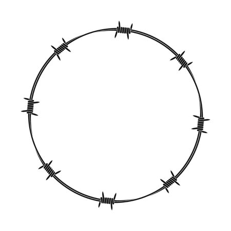 Isolated barbed wire on white background