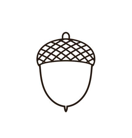 Acorn outline