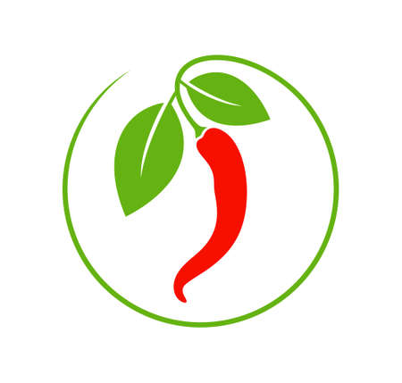 Chili pepper icon design element