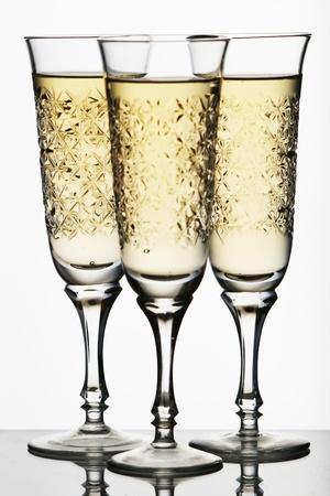 gold flute: Champagne glass