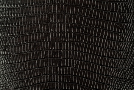 Black snakeskin leather texture background Banco de Imagens