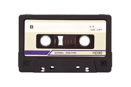 Old-fashioned audio compact cassette