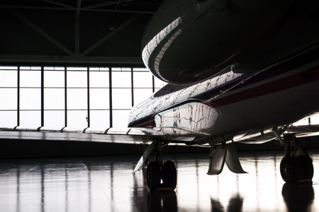 Luxorious Gulfstream Business Jet in Hangar