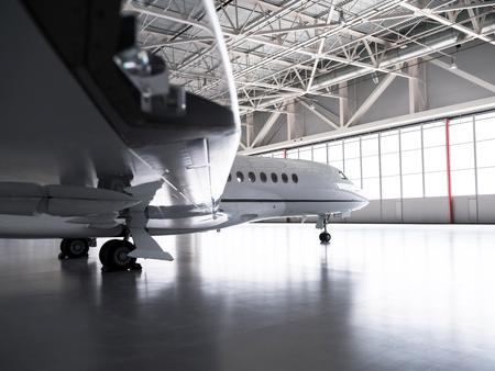 Dassault Falcon Private Jet in Hangar Imagens