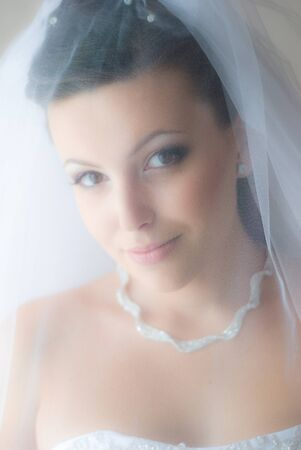 Bride under veil. Soft and smooth.