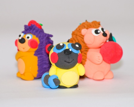 Handmade Plasticine Toys Stock Photo