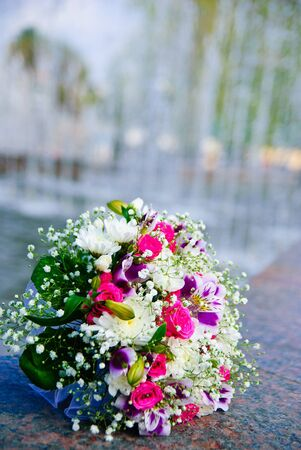 Bridal bouquet outdoors