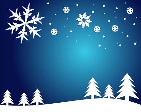 Vector Weihnachtskarte mit Schneeflocken. Vector Illustration. Illustration