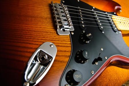 Close-up-Foto der E-Gitarre