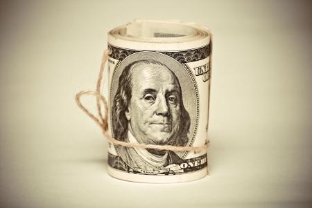 Der Stapel der US Federal Reserve Notes Lizenzfreie Bilder