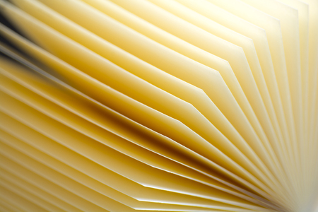 Abstract background of sheets of paper looks like opened book. Colse-up view. Stock Photo