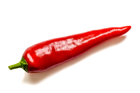 Red pepper isolated on a white background. With clipping path.