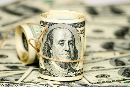 Die Rollen der US-Bundesreserve beachten $ 100.