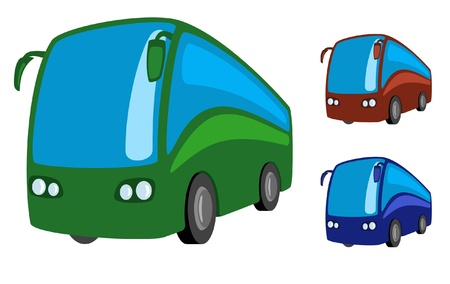 transportation cartoon: Tourist bus