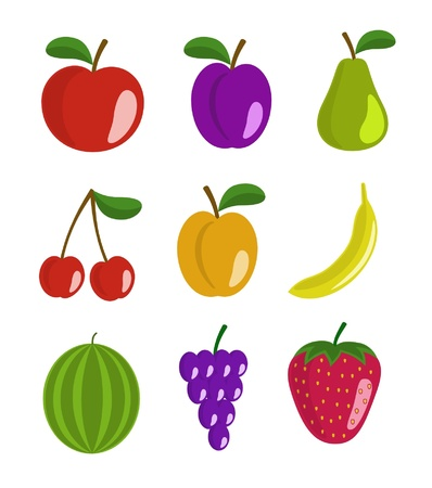 Fruit set Stock Vector - 13238525