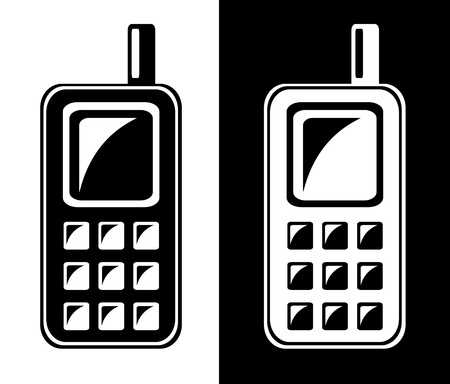 mobil: Mobiele telefoon pictogram Stock Illustratie