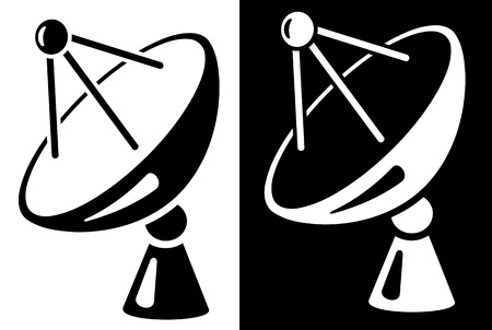 satellite tv: Satellite dish icon Illustration