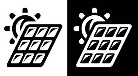 Solar battery icon Vector