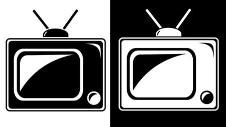 Television icon Иллюстрация