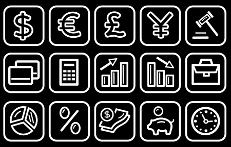 Finance and banking icon set Vector