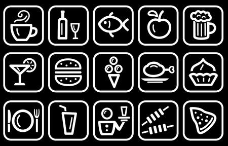 junkfood: Food and drinks icon set