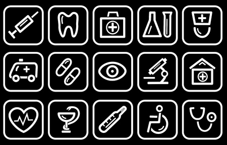 Medical icon set Stock Vector - 13389559