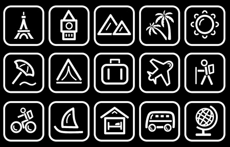 TTravel icon set Stock Vector - 13389514