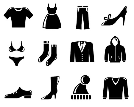 clothing shop: Clothing icon set Illustration