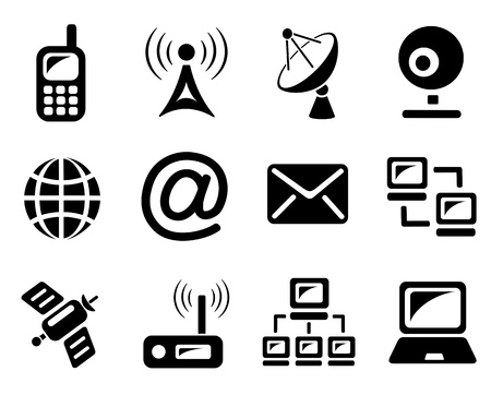 Communication icon set Stock Vector - 13476075