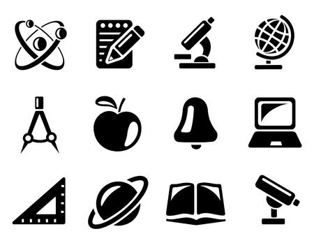 Onderwijs icon set Vector Illustratie
