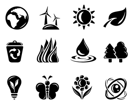 Environment icon set Stock Vector - 13476077