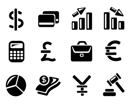 Finance icon set Illustration