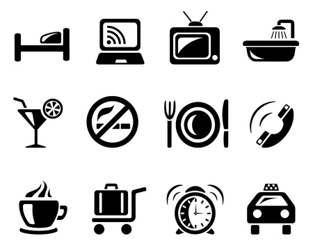 Hotel icon set Stock Vector - 13464474
