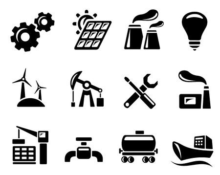 industria petrolera: Industria conjunto de iconos