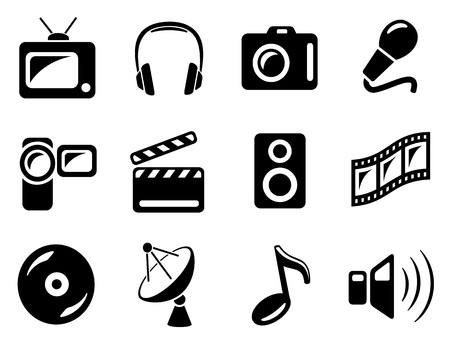 Multimedia icon set Vector
