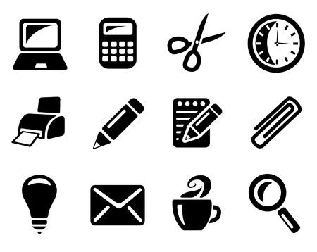 papeteria: Biuro zestaw ikon