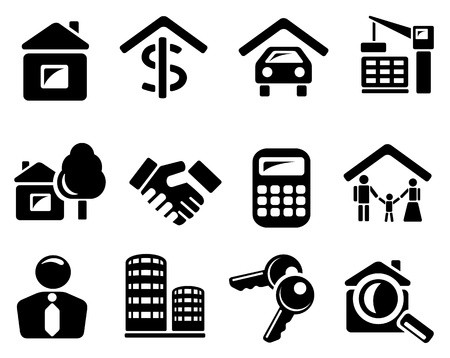 Real estate icon set Stock Vector - 13476083