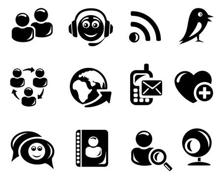 interaccion social: Red social conjunto de iconos