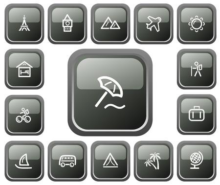 Travel button set Stock Vector - 13661731