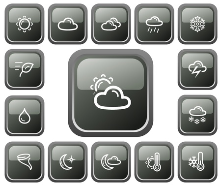 Weather button set Stock Vector - 13661733