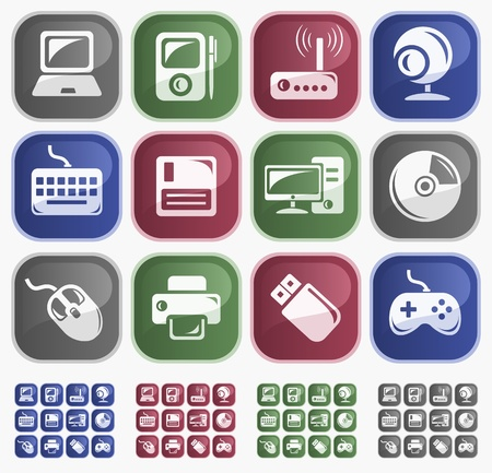Hardware button set Vector