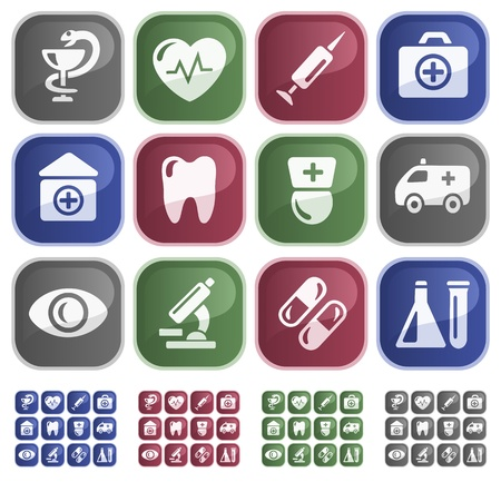 Medical button set Stock Vector - 13661735