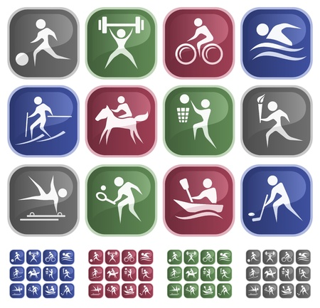 athletic symbol: Sport button set
