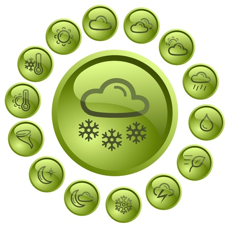Weather button set Stock Vector - 13838825
