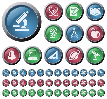Education button set Vector