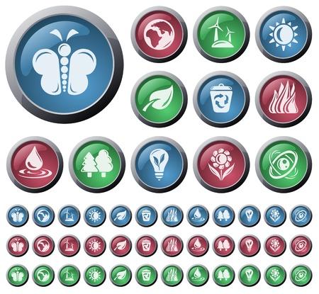 Environment button set Stock Vector - 13864156