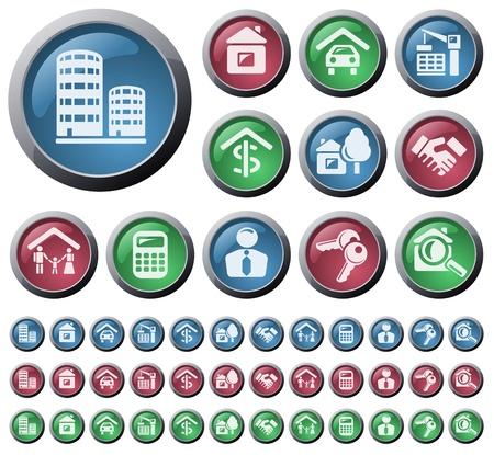 Real estate button set Vector
