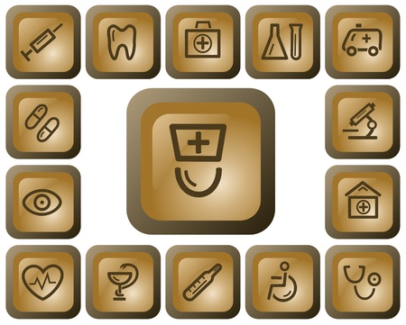 Medical button set Stock Vector - 13936449