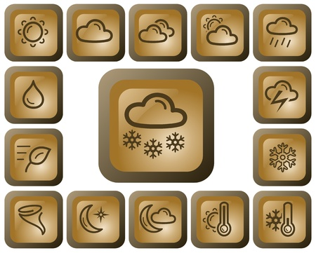 Weather button set Stock Vector - 13936460